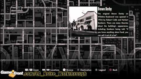 LA Noire - Star Map Achievement Trophy Walkthrough PT1- All 30 Landmarks