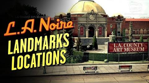 LA Noire Remaster - Landmarks Locations Star Map Trophy Achievement