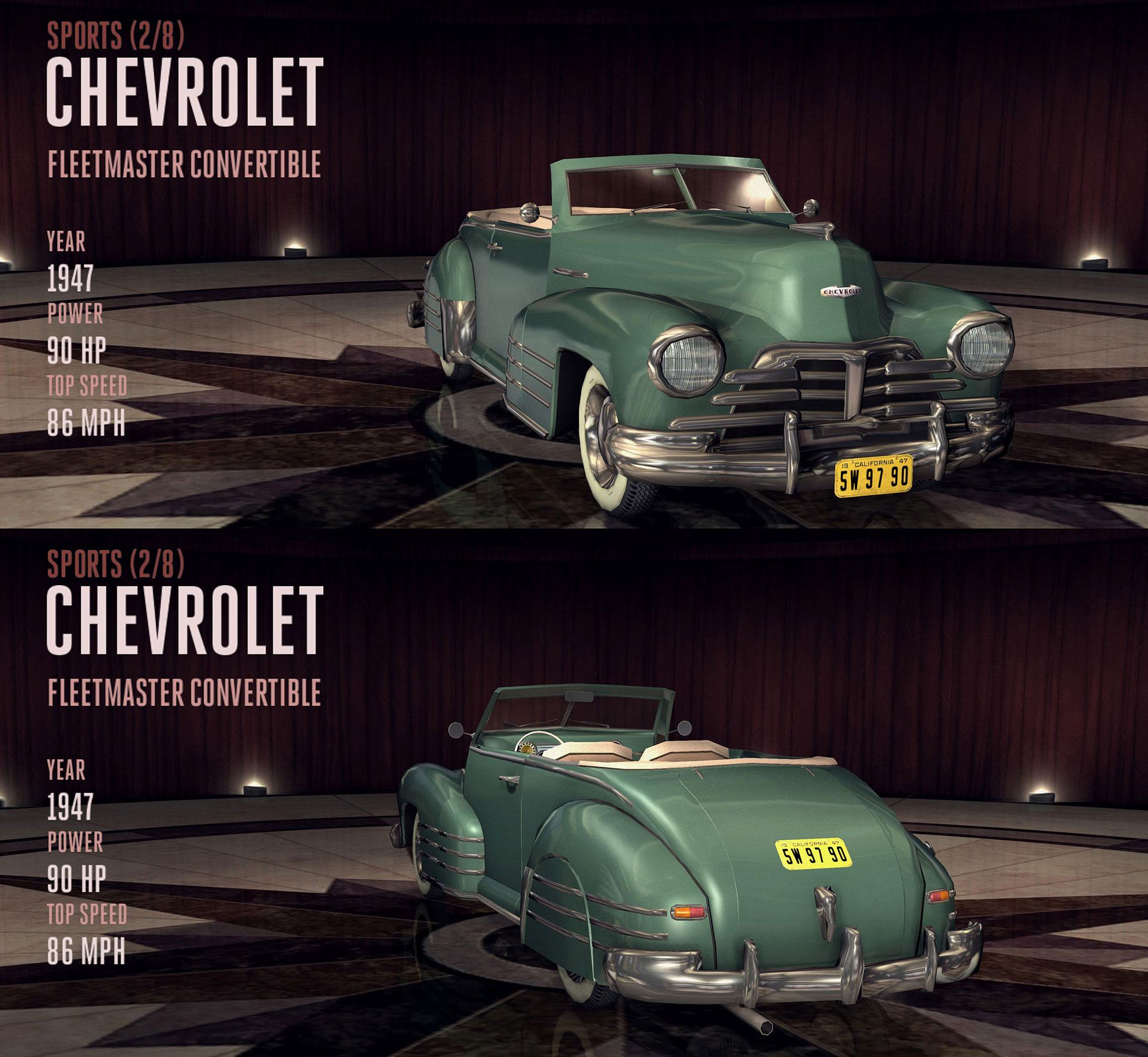 chevrolet fleetmaster convertible | l.a. noire wiki | fandom