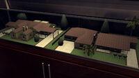 3-Rancho Escondido house models at Monroe's Office