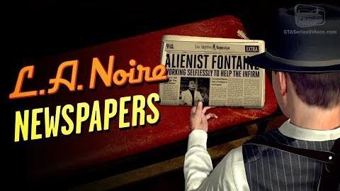 LA Noire Remaster - Newspapers Locations