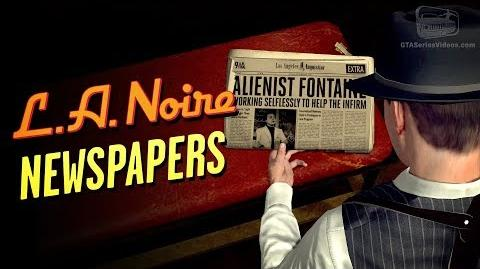 LA Noire Remaster - Newspapers Locations