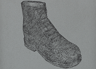 Whiteshoeslaying muddy boots