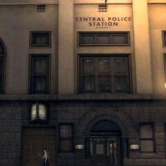 Façade du central de la police