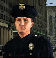 Phelps as a beat cop
