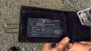 Adrian Black's wallet
