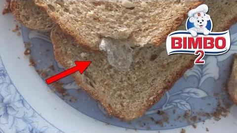 El secreto de bimbo Parte 2 plastico dentro de un pan tostado