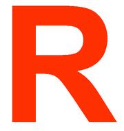 R de color Rojo