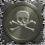 Skull silver trophy