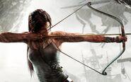 Lara Croft Aiming With Bow