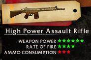 High Powered Assualt Rifle