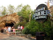 Tomb Raider The Ride Entrance