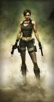 Lara Covered in Dirt