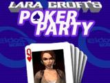 Lara Croft's Poker Party