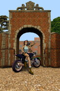 Lara with Bike at Manor