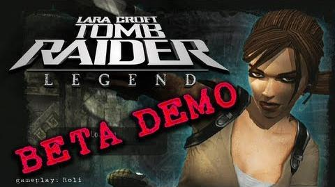 Tomb Raider Legend PS2 BETA demo
