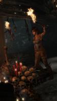 Lara Holding a Torch