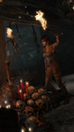 Lara Holding a Torch