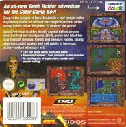 Tomb Raider GBC Back