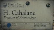 Cahalane's Card