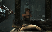 Lara surrounded