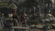 Lara and Sofia look over village