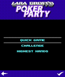Poker Party Menu