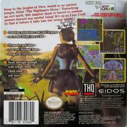 Tomb Raider GBC Back Cover