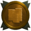 Reward gold trophy