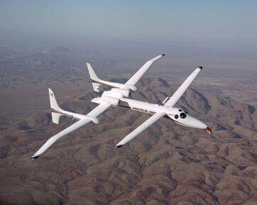 NASA Proteus aircraft in flight