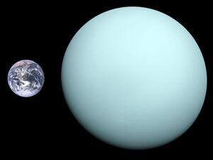 Uranus, Earth size comparison 2