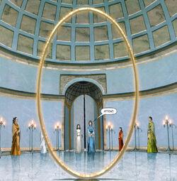 Portal ovalado