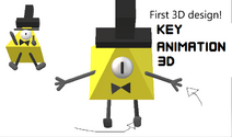 3D Key Design from my first 3D animation project Bill is Just Weird