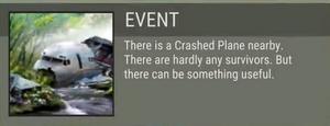 Crashed Plane event
