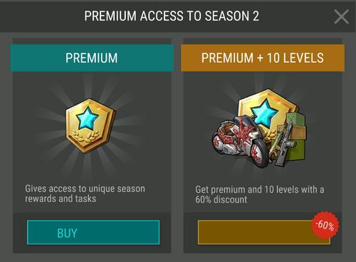 Acceso premium a la temporada 2
