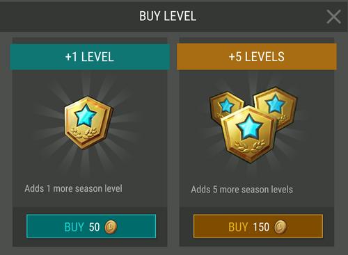 Temporada 1 nivel de compra Premium