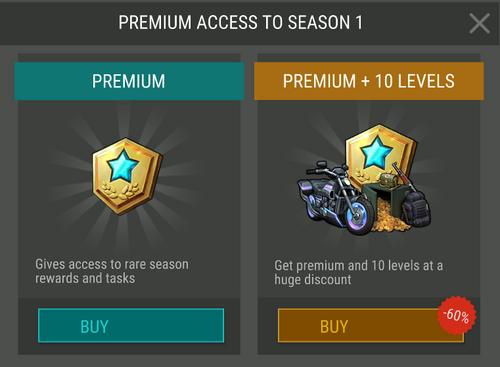 Temporada 1 acceso Premium