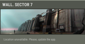 Wall. Sector 7 unavailable