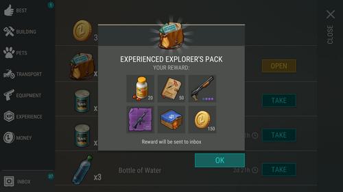 Experienced Explorer's Pack reward1
