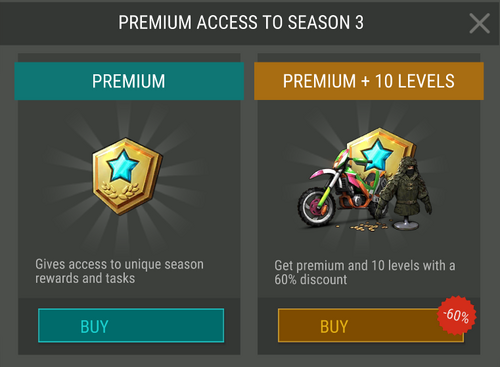 Temporada 3 acceso Premium