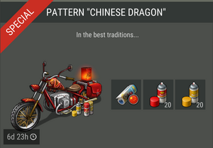 Pattern Chinese Dragon offer