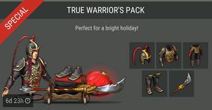 True warrior's pack