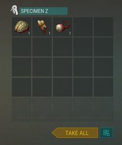 Specimen Z reward