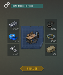 Gunsmith Bench finalize