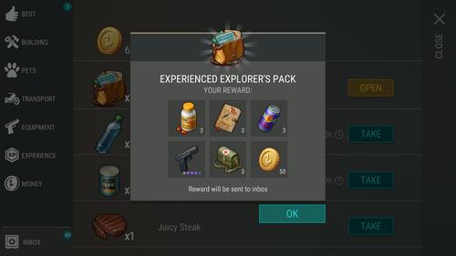 Experienced Explorer's Pack reward3