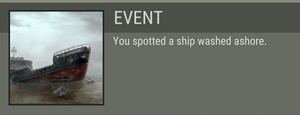 Wrecked ship event