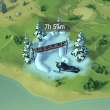 Snowy Race Track map
