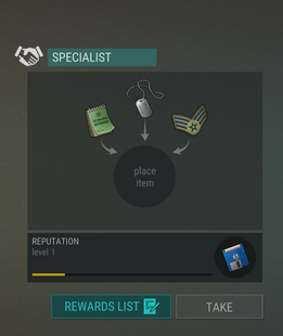 Specialist reputation items