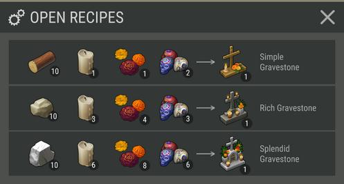 Ritual Bench Recipes