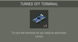 Turned off terminal